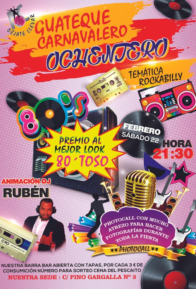 Guateque Carnavalero Ochentero Temática Rockabilly