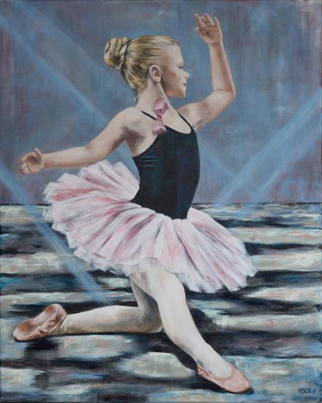 Kleine danseres in de schijnwerpers