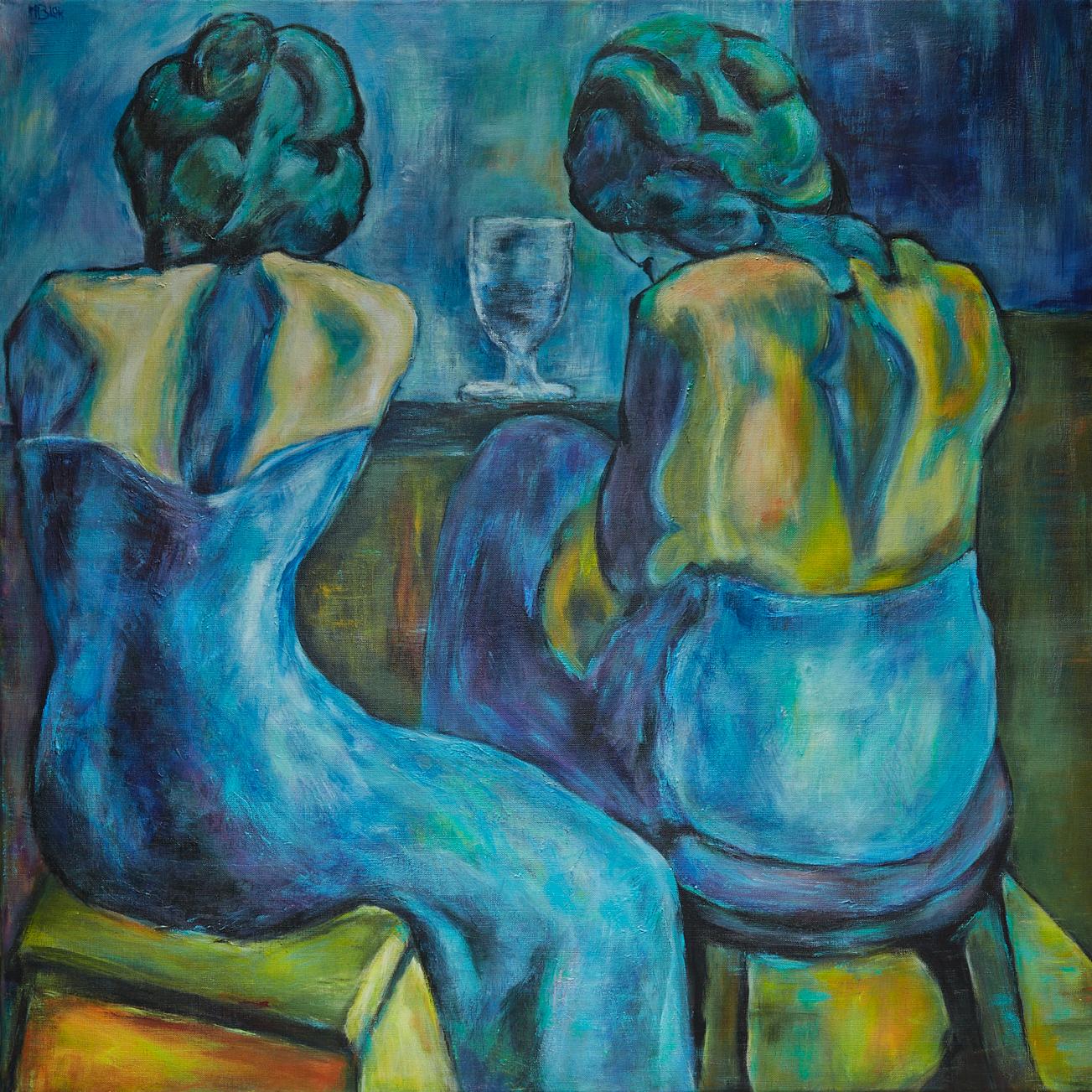 Twee vrouwen aan de bar