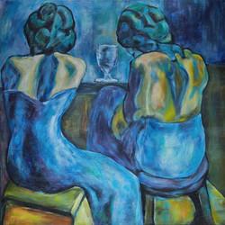 Twee dames aan de bar