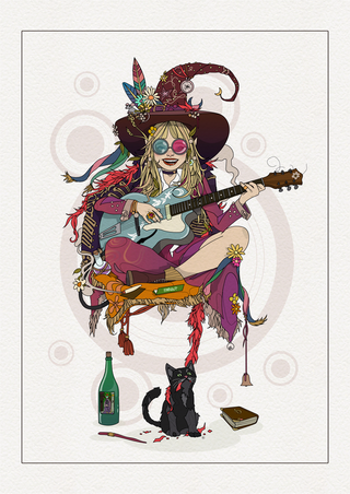Groovy Witch & Cat.