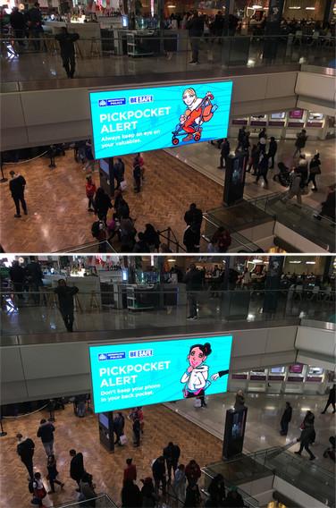 Shopping Centre Pickpocket Awareness Art