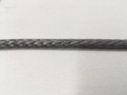 """1/4"""" HTS-78 Grey Single Braid Dyneema"""