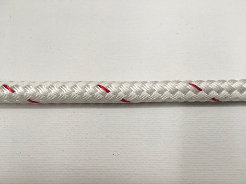 "3/8"" White Sta-Set Polyester Double Braid"
