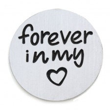 'Forever in my heart' backing plate