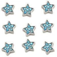 Blue crystal star charm