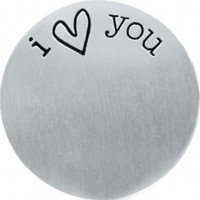 'I love you' backing plate