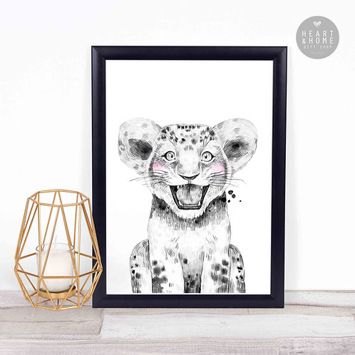 """Baby Lion (16""""x12"""" Picture)"""
