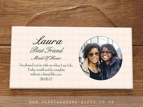 Thank You (photo plaque)