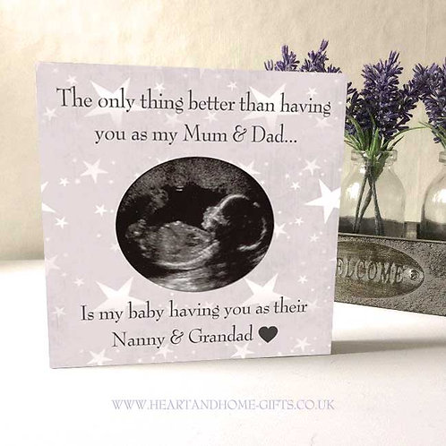 The Only Thing Better.... (Sq) Baby Scan Photo Plaque