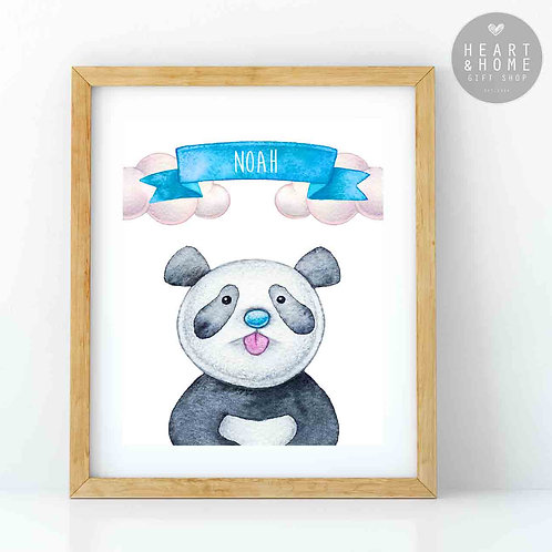 "Personalised 'Cute' Panda Picture (16""x12"")"