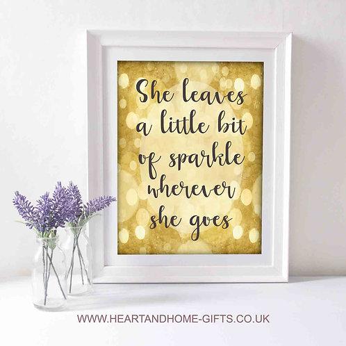 A Little Bit Of Sparkle (Word Art)