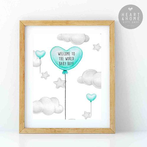 Heart Balloon - Baby Boy...