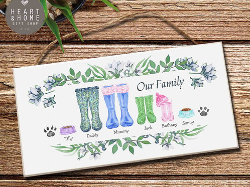 Family Footprint Plaque...