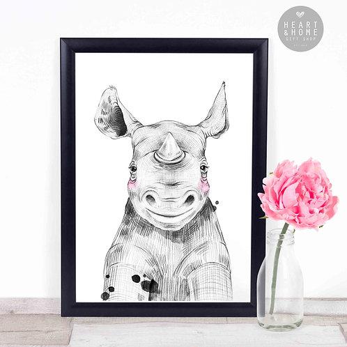 "Baby Rhino (16""x12"" Picture)"
