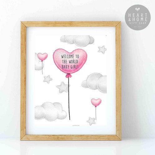 Heart Balloon - Baby Girl...