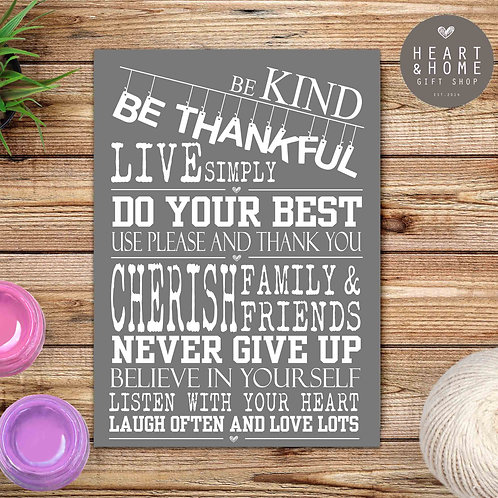 Be Kind, Be Thankful