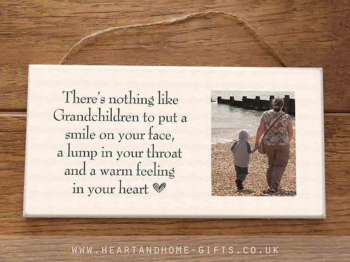 Grandchildren photo plaque