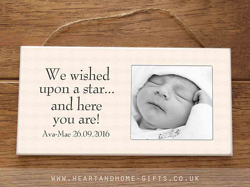 We Wished Upon A Star (photo plaque)
