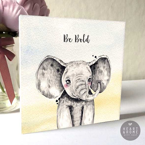 'Be Bold' Baby Elephant (Wooden Block)...