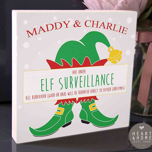 Elf Surveillance... Freestanding Plaque