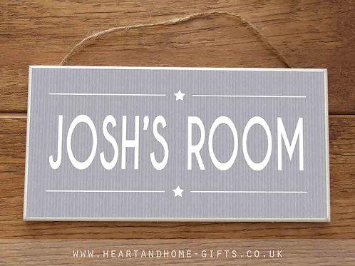 Personalised Door Sign (Boy)