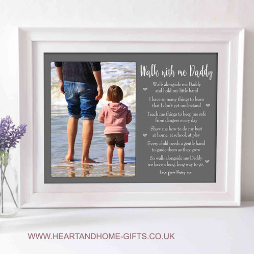 Walk With Me Daddy Word Art With Picture