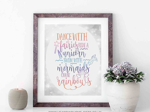 Dance With Fairies (Word Art)