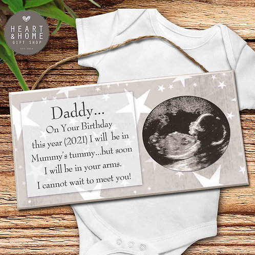 On Your Birthday... Baby Scan Photo Plaque