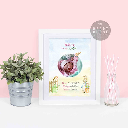 Personalised Bunny Picture (Pink)