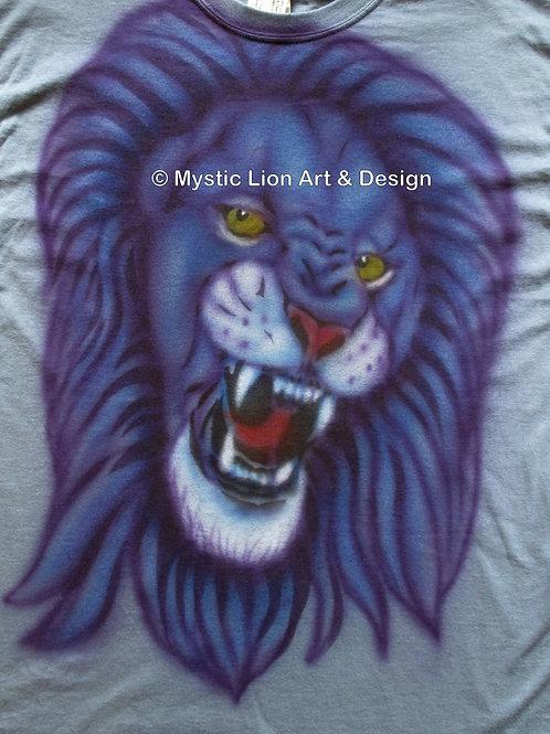 Blue Roaring Lion shirt