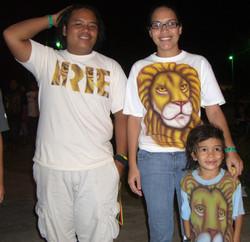 Friends in Mystic Lion Art Shirts
