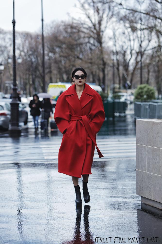 The Best Street Style at Maison Margiela - Paris Fashion Week 26 February 2020 (Heavy rain hence few photos)