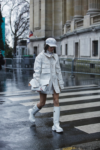 The Best Street Style at Maison Margiela - Paris Fashion Week 26 February 2020 (Heavy rain hence few photos)
