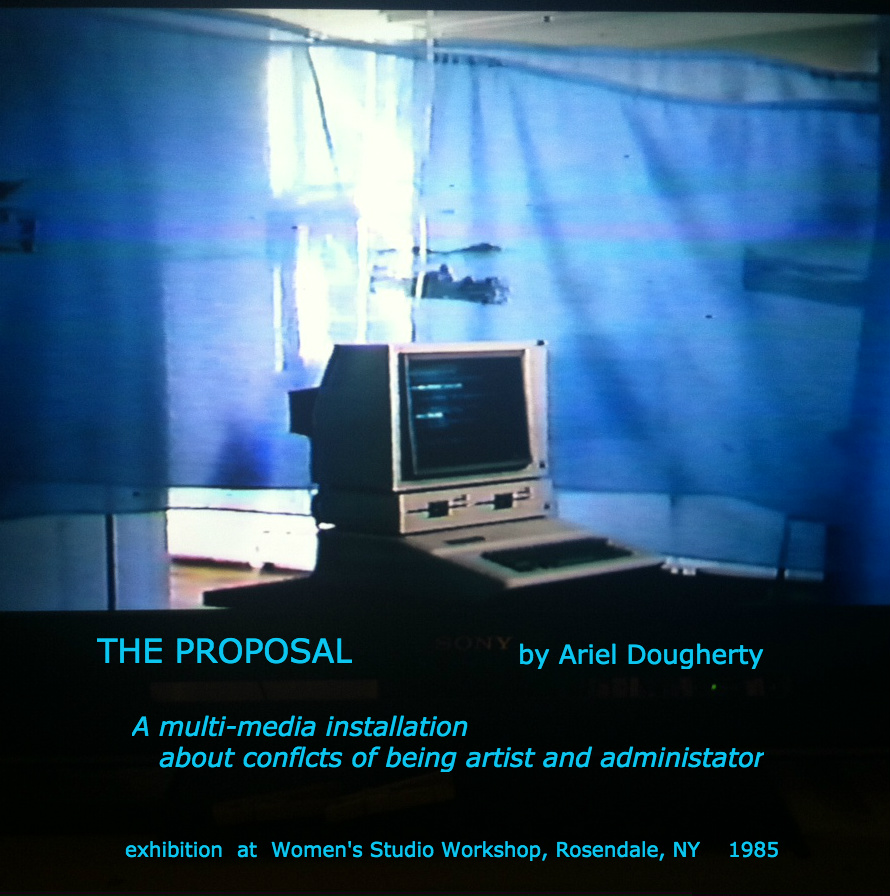 THE PROPOSAL, 1985 multi-media exh