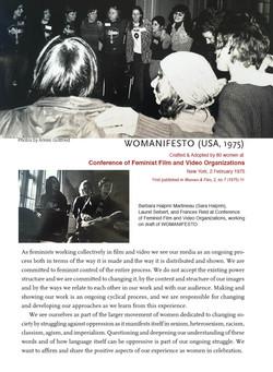 ONGOING WOMANIFESTO, 1975