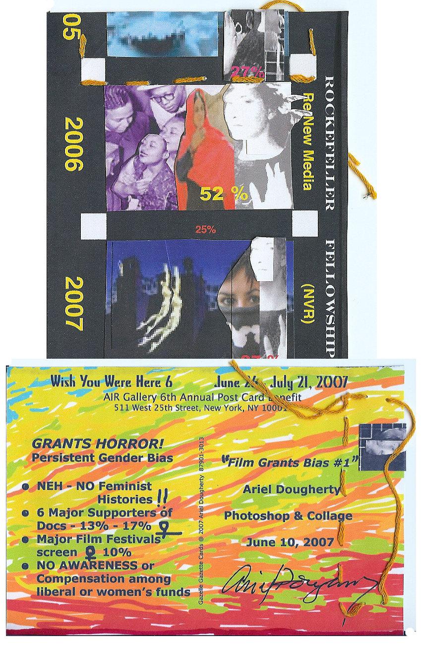 GRANT HORRORS, 2007, 3-d post card