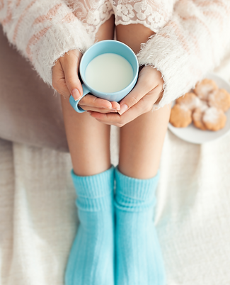 Relax with Milk and Cookies Instagram Po