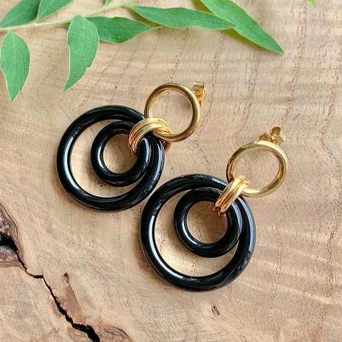 Onyx Frida Earrings