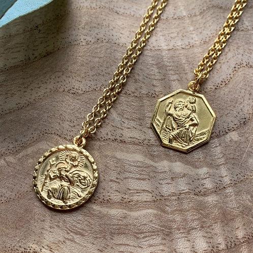 Vintage St Christopher Necklace