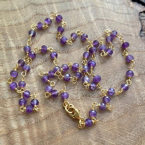 Amethyst Short Necklace