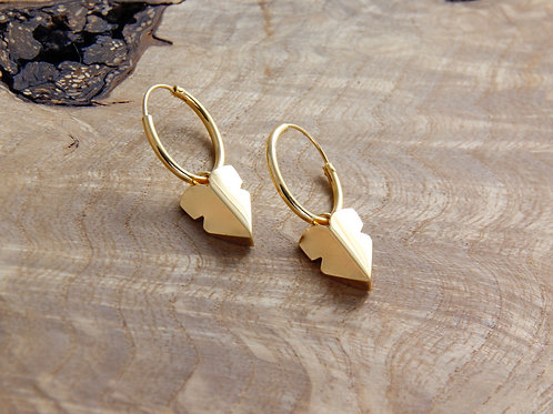 Arrow Heart Earrings