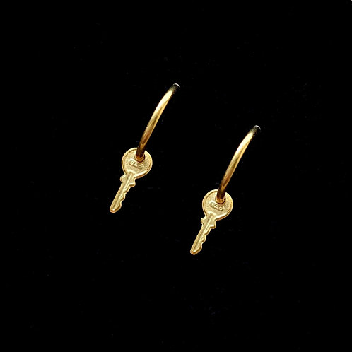 Mini Key Earrings