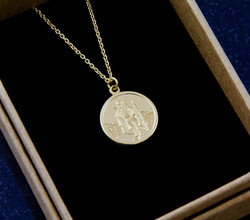 Gold St Christopher Necklace