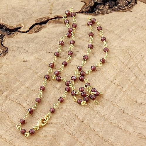Garnet Short Necklace