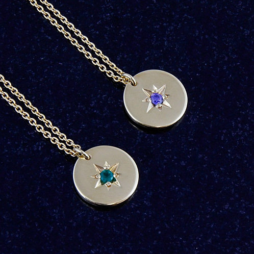 Emerald & Sapphire Star Necklace