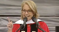 SURPRISE ENDORSEMENT:Katie Couric shares Ellen Reeves advice during a college graduation speech.Katie discusses an interview she did with Ellen and her book,Can I Wear My Nose Ring to the Interview.