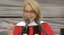 SURPRISE ENDORSEMENT: Katie Couric shares Ellen Reeves advice during a college graduation speech. Katie discusses an interview she did with Ellen and her book, Can I Wear My Nose Ring to the Interview.