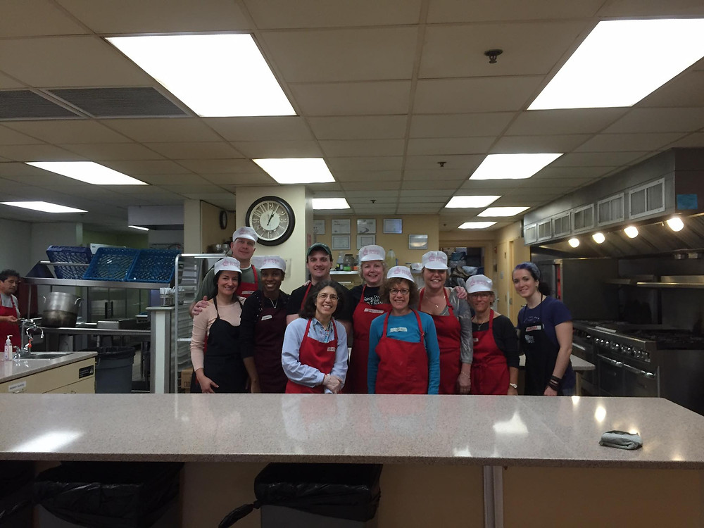 The all volunteer kitchen staff at Rosie's Place!
