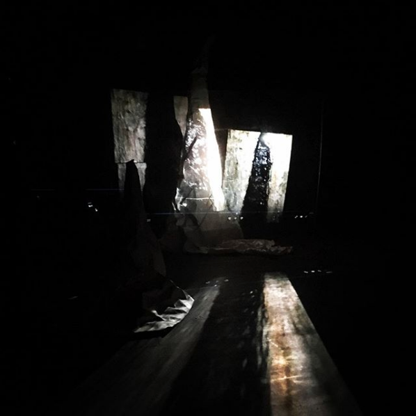 Projecting onto paper mountains